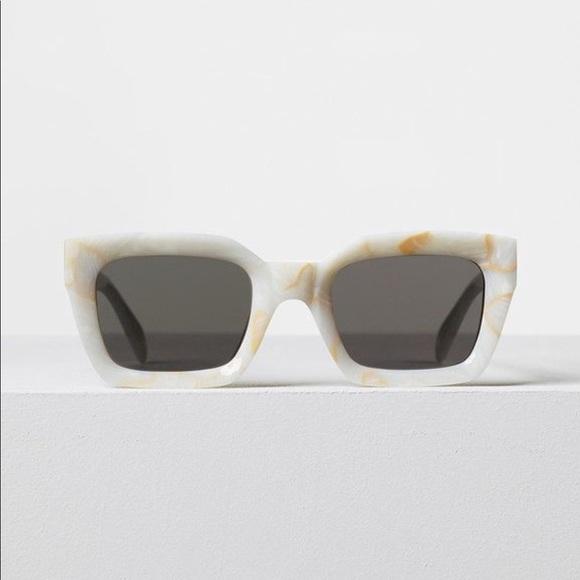 e52a85ae2c6e9 Authentic CELINE Kate Sunglasses White Marble